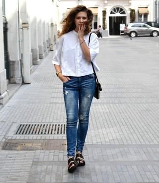 weißes hemd outfit damen