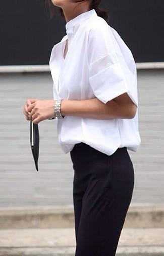 weißes Kurzarmhemd von MSGM
