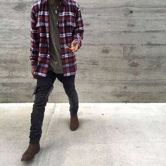 20 Jährige: Wie schwarze Hose mit Flanell Hemdes zu