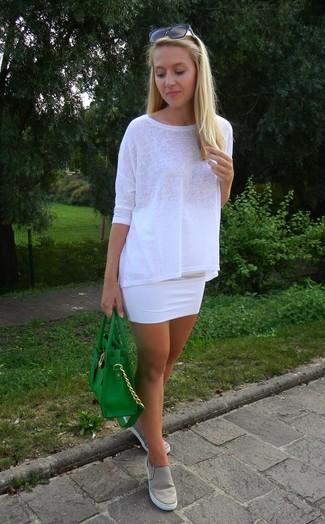 weißes Langarmshirt von Bobi