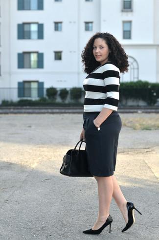 schwarze Lederhandtasche von Givenchy