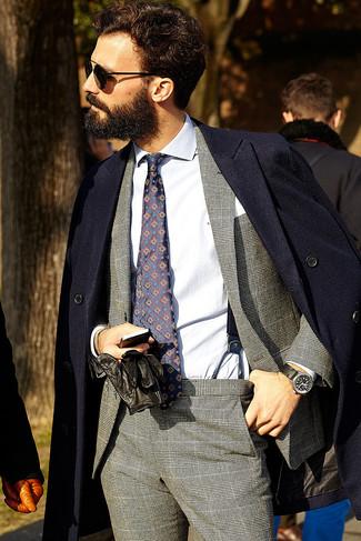 dunkelblauer Mantel von Asos