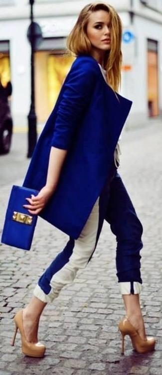 Blaue hose kombinieren
