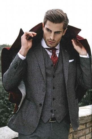 grauer Wolldreiteiler von Dolce & Gabbana