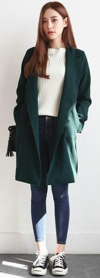 Dunkelgrünen Mantel kombinieren (73 Outfits für Damen