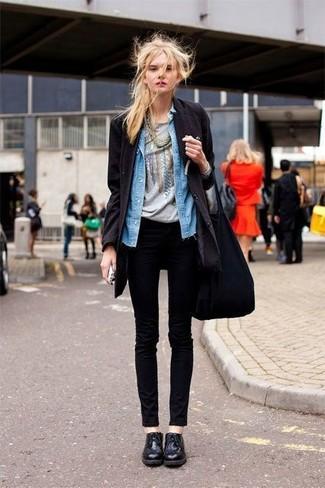 blaues Jeanshemd von SOCCX
