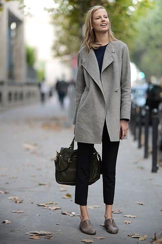 Graue Leder Slipper Für Damen Kombinieren 28 Kombinationen Damenmode