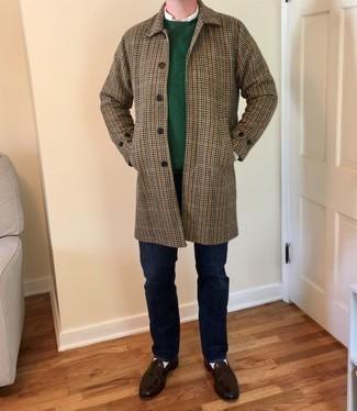 grüner Pullover mit einem Rundhalsausschnitt von Esprit