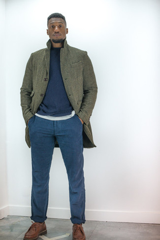 dunkelblauer Pullover von CALAMAR MENSWEAR