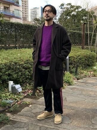 dunkelbrauner Überzug von Pepe Jeans