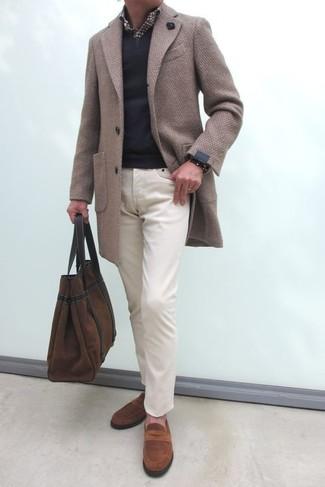Braunen Mantel mit Vichy Muster kombinieren (8 Outfits für