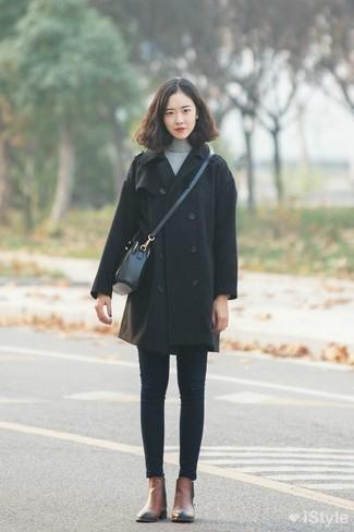 schwarzer Mantel von Comme Des Garçons Vintage