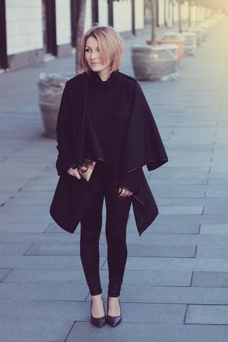 schwarzer Mantel von Herno