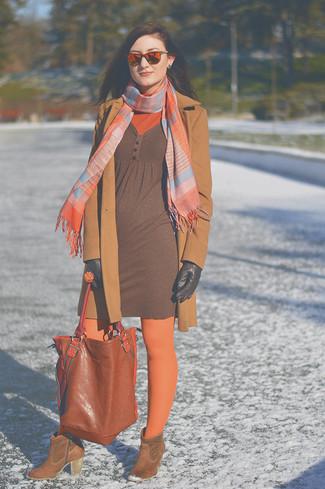 rotbraune Shopper Tasche aus Leder von MICHAEL Michael Kors