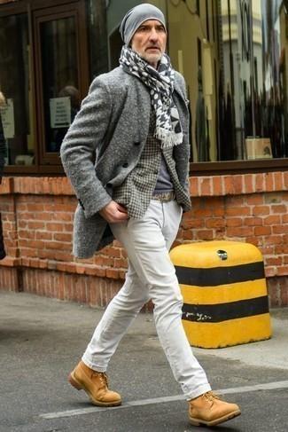 weißer und schwarzer bedruckter Schal von ONLY & SONS