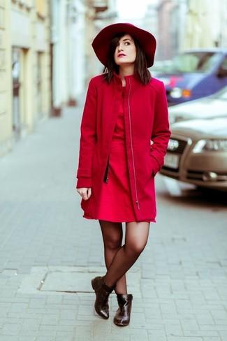 rotes Skaterkleid von Sisley