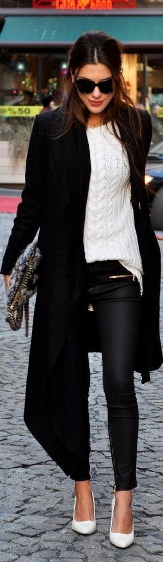 schwarze enge Jeans aus Leder von RtA