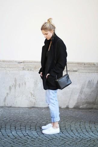 schwarze Leder Umhängetasche von Abro