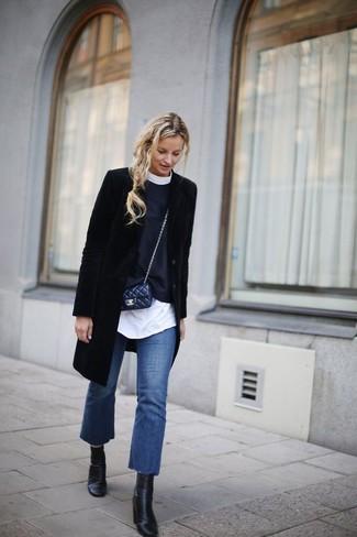 schwarzer Mantel von Tom Tailor Denim