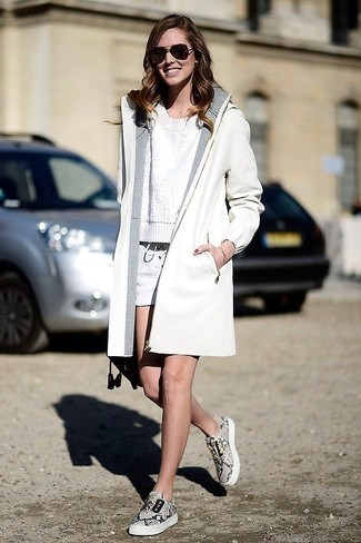 weiße Shorts von Jil Sander Navy