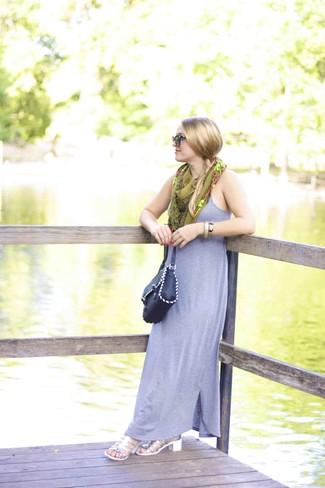 silberne Leder Sandaletten von Glamorous