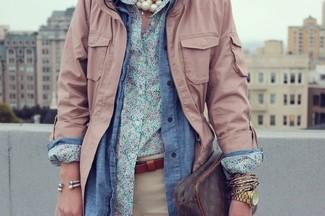 blaues Jeanshemd von Only