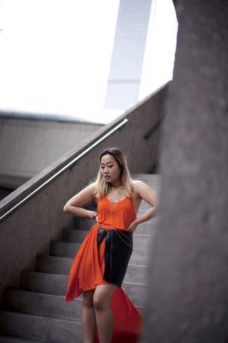 orange Maxikleid von Kaporal