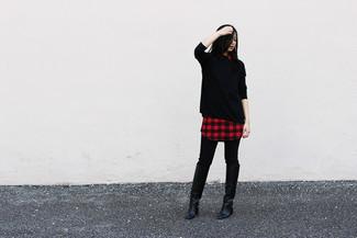 schwarze enge Hose von Dondup