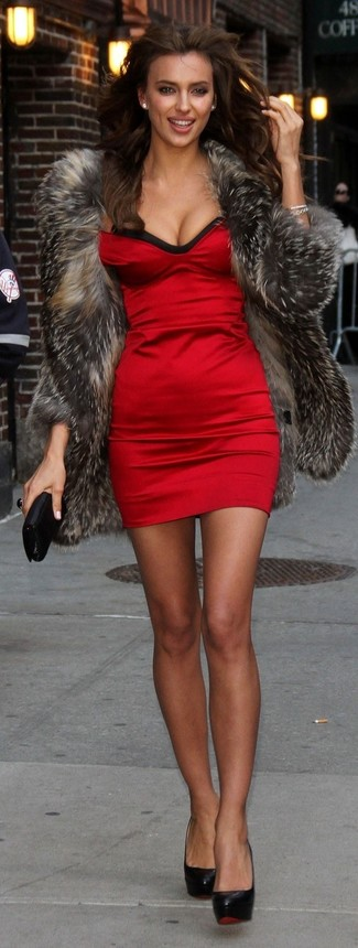 Rotes kleid kombinieren strumpfhose