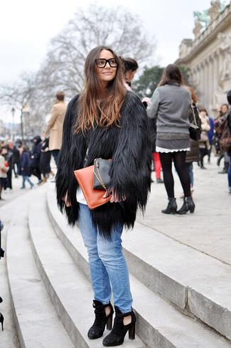 schwarzer Pelz von New Look Plus