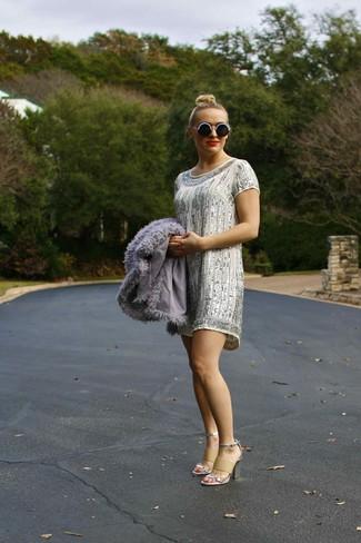 Silber kleid kombinieren