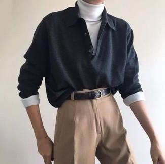 dunkelgrauer Pullover von OZONEE