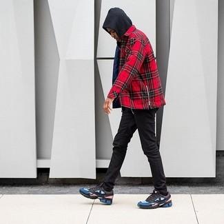 schwarze enge Jeans von Soul Star