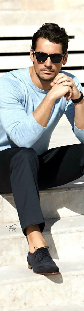 hellblauer Pullover von Hilfiger Denim