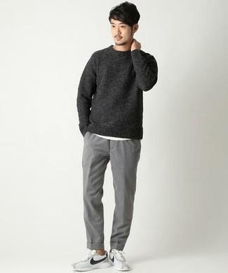 dunkelgrauer Pullover von BLEND