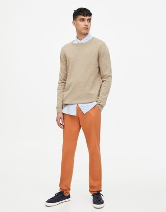 hellbeige Pullover von Boss Orange