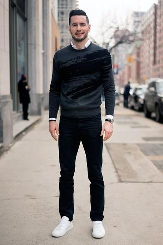 dunkelgrauer Pullover von S.Oliver Big Size