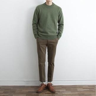 olivgrüner Pullover von Maerz