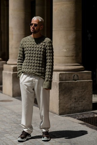 olivgrüner Pullover von Calvin Klein Jeans