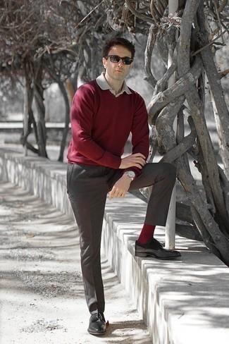 dunkelroter Pullover von Scalpers