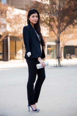 dunkelblaue Anzughose von COSMA
