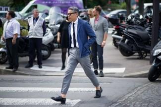Oxford Blaues Mit Schuhe Sakko Zu Schwarzer Wie Leder Kombinieren POnwk80X