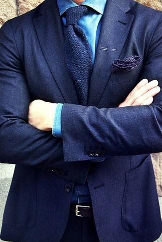 dunkelblaues Wollsakko von Loro Piana