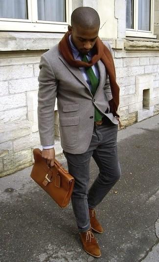 braune Chukka-Stiefel aus Wildleder von Burton Menswear