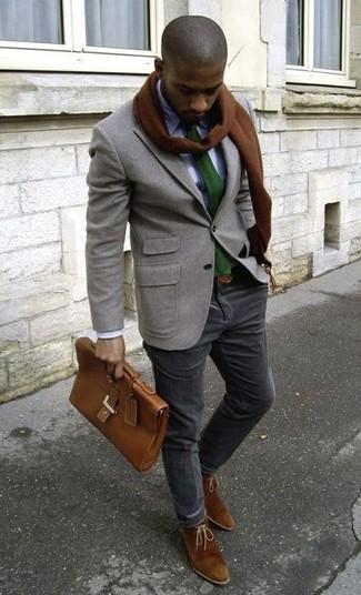 braune Chukka-Stiefel aus Wildleder von Silver Street