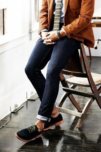 dunkelblaue enge Jeans von Just Junkies