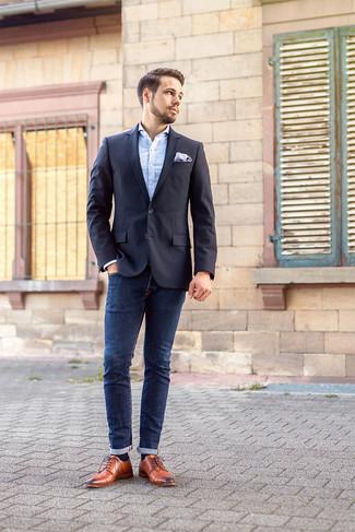 Kombinieren37 Wie Mit Dunkelblaue Schwarzen Sakkos Zu Jeans D29IWHE
