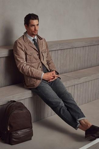 Krawatte kombinieren – 1200+ Herren Outfits: Kombinieren Sie ein braunes Wildledersakko mit einer Krawatte, um vor Klasse und Perfektion zu strotzen. Suchen Sie nach leichtem Schuhwerk? Komplettieren Sie Ihr Outfit mit dunkelbraunen Doppelmonks aus Leder für den Tag.