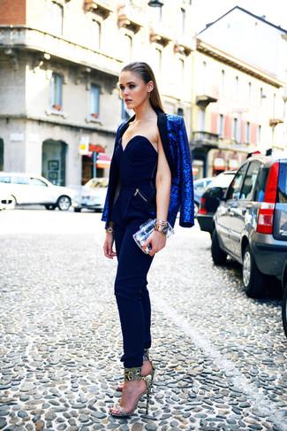 dunkelblauer Jumpsuit von Lipsy