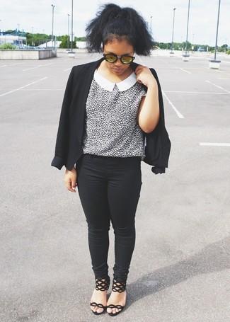 schwarze enge Jeans von Vero Moda